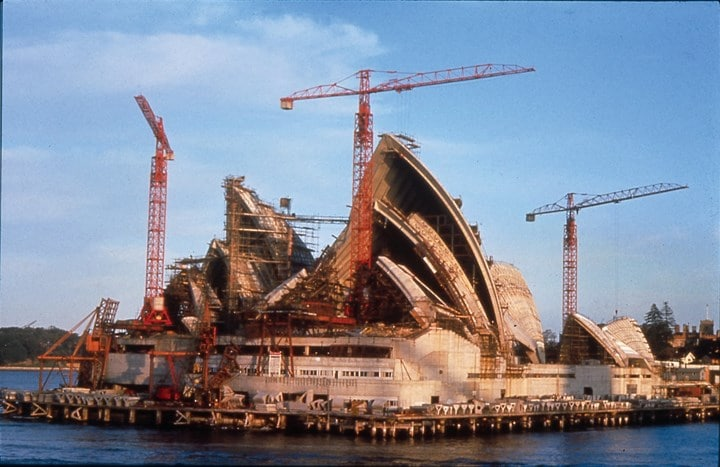 Công trình xây dựng nhà hát Opera Sydney những năm 1970