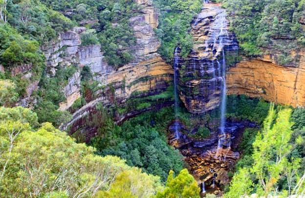 Thác nước Wentworth Fall - khám phá Blue Mountains ở Úc
